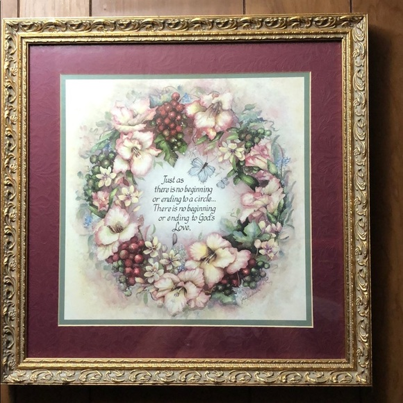Home Interiors Wall Art Home Interior Gifts Vintage Floral Wall Picture Poshmark